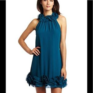 Ted Baker London Teal Ruffle Party Dress